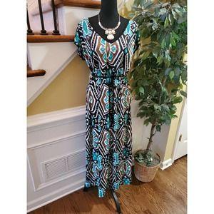 Olivia Matthews Multicolor Maxi Dress Size 1X